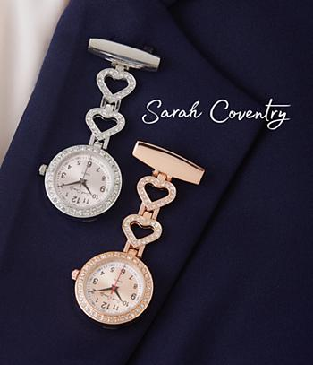 Sarah Coventry Pin Watch - Rose-Goldtone