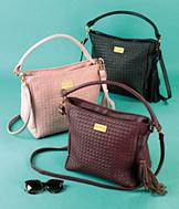 Sarah Coventry Woven Handbag - Wine