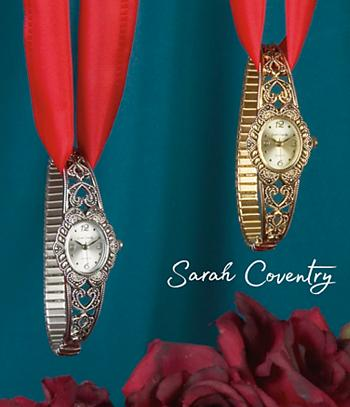 Sarah Coventry Antique-Look Watch - Goldtone