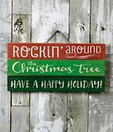 Rockin' Around the Christmas Tree Sign