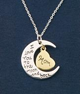 Moon and Back Mom Pendant