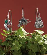 Plant Stakes with Charms - 6-Pc. Set