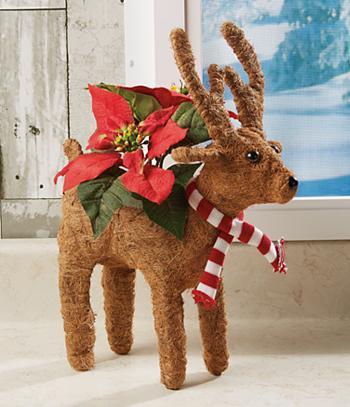 Reindeer Coconut Fiber Planter