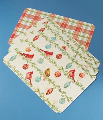 Precious Reversible Holiday Placemats - Set of 4