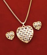 Mirrored Heart Pendant