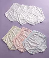 Lace-Detailed White Panties - 3 Pairs