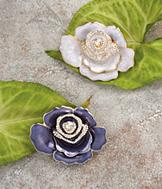 Sarah Coventry Rose Pin - Purple