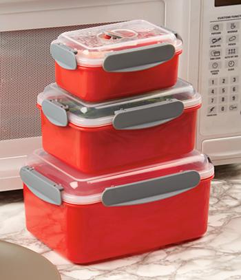 Locking Food Containers - 6-Pcs.