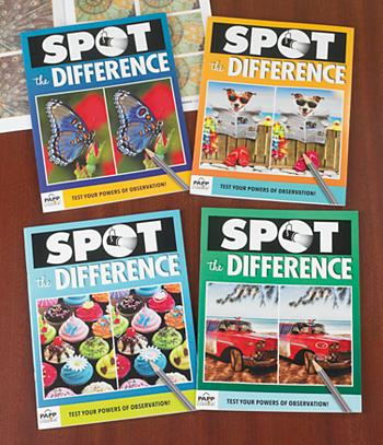 Spot the Difference Puzzle Books - Set of 4