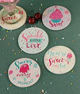 Life Is Sweet Coasters - Set of 4