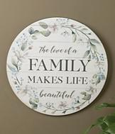 The Love of a Family Decorative Plaque