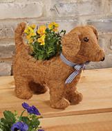 Dog Topiary Planter