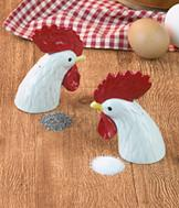 Roosters Salt and Pepper Set