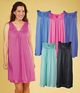 Exquisite Form Sleeveless Nightgown - Azure