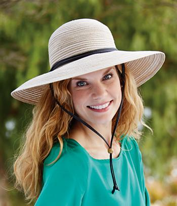 Wide Brim Sun Hat with Adjustable Chin Strap