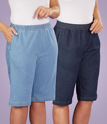 Denim Bermuda Shorts - Chambray