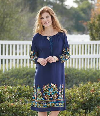 Embroidered Dress - Missy