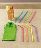 Silicone Straws - Set of 8