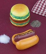 Burger and Dog Salt and Pepper Set