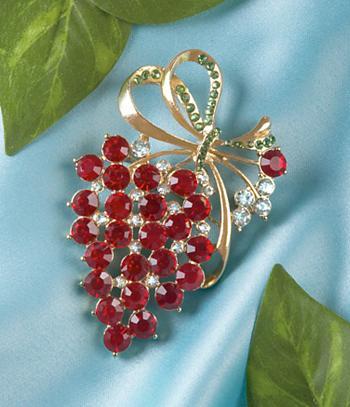 Grape Cluster Brooch