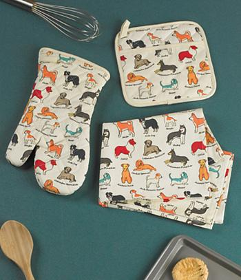 Dog-Pattern Tea Towel