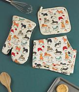 Dog-Pattern Tea Towel