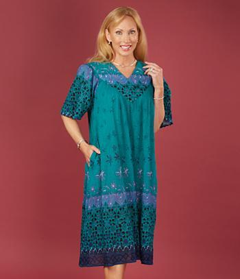 Crinkle Cotton Dress - Missy