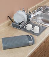 Fold-Away Dish Rack