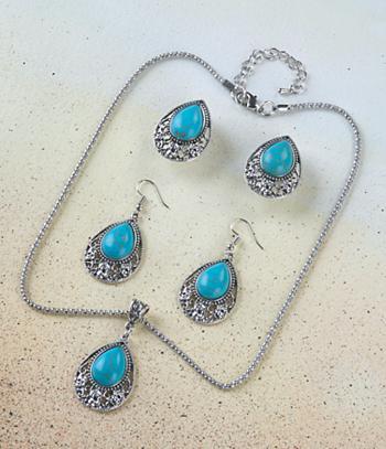 Turquoise Drop Pendant