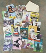 Cat-Themed Greeting Cards - Set of 20