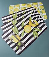 Reversible Lemon Placemats - Set of 4