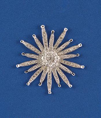 Starburst Sunflower Brooch