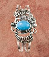 Reconstructed Turquoise Cuff Bracelet