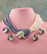 Pearl-Look Knotted Necklace