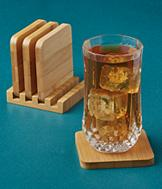Bamboo Coasters - 5-Pc. Set