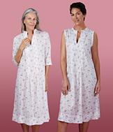 Three-Quarter Sleeve Voile Nightgown