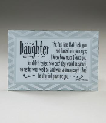 Beveled Glass Daughter Plaque