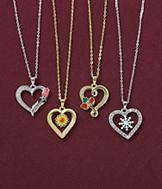 Seasons of Love Pendants - Set of 4