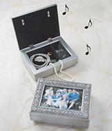 Musical Jewelry Box with Photo Frame