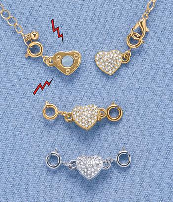 Heart-Shaped Magnetic Jewelry Clasps - Both