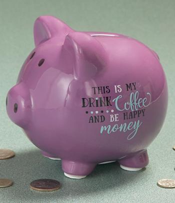 Coffee Piggy Bank