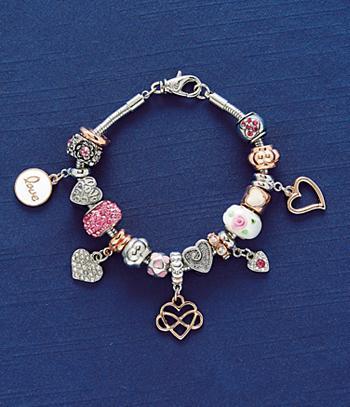 Love-Theme Charm Bracelet
