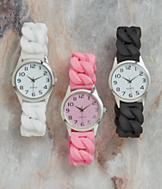 Silicone Stretch Watch - Pink