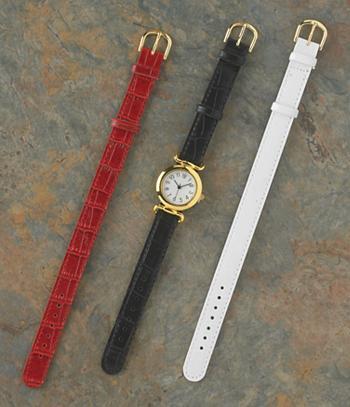 Quick-Change 3-Strap Watch