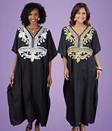 Embroidered Caftan - Gold Stitching