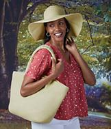 Woven Sun Hat and Tote