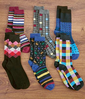 Men's Dress Socks - 6 Pairs