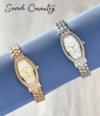 Sarah Coventry Bracelet Watch - Silvertone
