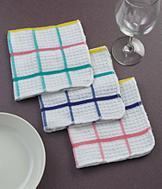 Striped Waffle Weave Dishcloths - Set of 3