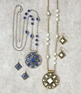 Medallion Jewelry Set - Blue